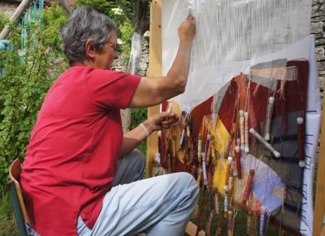 tissage mural