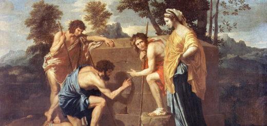 3 Poussin, 1638-1639, Les Bergers d'Arcadie