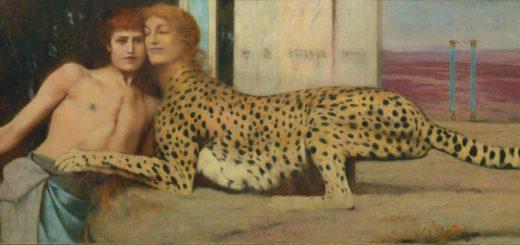 4 Khnopff, 1896, Des caresses