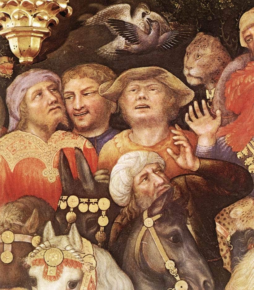 6 Gentile da Fabriano, 1423, L'adoration des Mages (Détail 5)