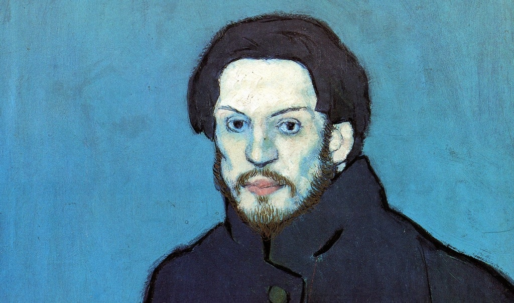 11 Picasso, 1901, Autoportrait
