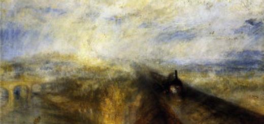 Turner, 1844, Pluie, vapeur et vitesse, 90,8 x 123 cm, huile sur toile, National Gallery, Londres